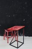 Przyjęcie, czerwień, deska, kredowego biurowego warsztatowego centrum szkoleniowego klasowy pokój Obrazy Stock