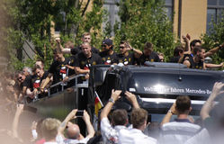 Przyjęcie dla Niemieckiej futbolowej światowej mistrz drużyny w Berlin Zdjęcie Royalty Free
