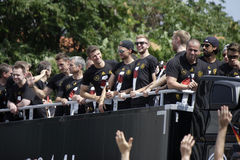 Przyjęcie dla Niemieckiej futbolowej światowej mistrz drużyny w Berlin Obrazy Royalty Free