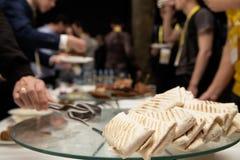 Przyjęcie dla uczestników konferencja catering zdjęcia stock