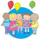 Przyjęcie dzieciaki ilustracja wektor
