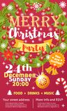 Przyjęcie gwiazdkowe wektoru karty tła projekta szablon dla noel Xmas świętowania clipart wakacyjnego nowego roku ilustracji