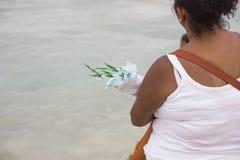 Przyjęcie iemanja w copacabana zdjęcia stock