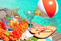 przyjęcie poolside Zdjęcia Royalty Free