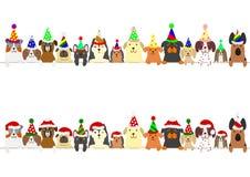 Przyjęcie psów granicy set royalty ilustracja