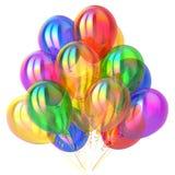 Przyjęcie szybko się zwiększać urodzinowej dekoraci stubarwny glansowanego Obrazy Royalty Free