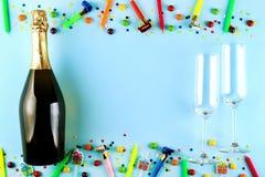 Przyjęcie urodzinowe zestaw z kopii przestrzenią zdjęcia royalty free