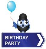 Przyjęcie urodzinowe znak Fotografia Stock