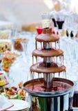 Przyjęcie z czekoladową fontanną Fotografia Stock