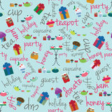 Przyjęcia i wakacje wzór Zdjęcie Stock