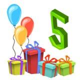 Przyjęcia Urodzinowego zaproszenia karty szablon Zdjęcia Stock