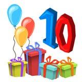 Przyjęcia Urodzinowego zaproszenia karty szablon Obrazy Stock