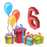 Przyjęcia Urodzinowego zaproszenia karty szablon Obraz Stock