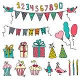 Przyjęcie urodzinowe elementy Fotografia Stock