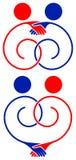Przyjaźń logo Zdjęcia Royalty Free