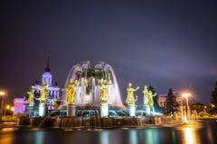 Przyjaźń Zaludnia fontannę Obraz Stock