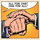 Przyjaźni solidarności mężczyzna ręka Fotografia Royalty Free