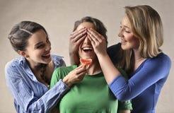 Przyjaciół bawić się fotografia stock