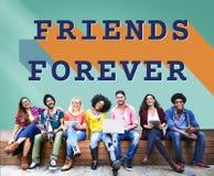 Przyjaciół Na zawsze społeczności partnerstwa jedności pojęcie fotografia royalty free
