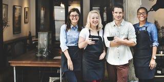 Przyjaciela partnerstwa Barista sklep z kawą pojęcie zdjęcie royalty free