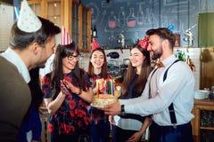 Przyjaciela przyjęcie urodzinowe zdjęcia stock