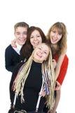przyjaciele grupują szczęśliwego Zdjęcia Royalty Free