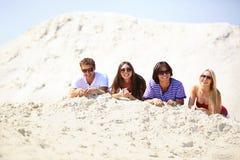 Przyjaciele na piasku Obraz Stock