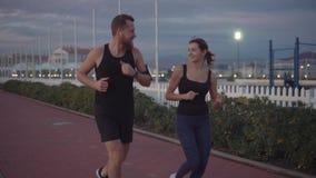 Przyjaciele opowiada i biega w parku zbiory