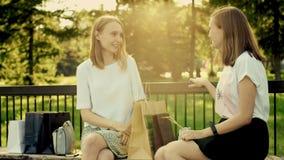 przyjaciele parkują porozmawiać zbiory wideo