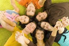 przyjaciele podłogi Zdjęcia Royalty Free