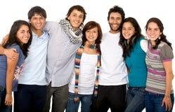 przyjaciele szczęśliwe zgrupowane Fotografia Stock