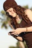 przyjaciele texting Zdjęcie Stock