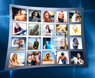 Przyjaciele w ogólnospołecznej sieci obrazy royalty free