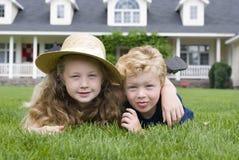 przyjaciele z dzieciństwa Zdjęcie Royalty Free