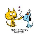 przyjaciele zawsze najlepsze ilustracja wektor