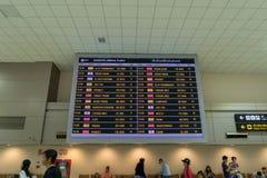 Przyjazd deska w Przyjazdowym Hall w Don Mueang zawody międzynarodowi Airpor Zdjęcia Stock