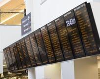 Przyjazd i Departurel deska zdjęcie stock