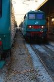 Przyjazd pociągi i St Lucia stacja, Wenecja Zdjęcia Royalty Free