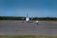 przyjazdowy turboprop Zdjęcie Stock
