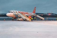 Przyjeżdżający przy Ivalo lotniskiem, Fiński Lapland fotografia stock
