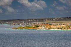 Przyjeżdżający przy Kralendijk, Bonaire Zdjęcia Stock