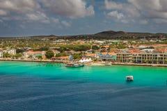 Przyjeżdżający przy Kralendijk, Bonaire Zdjęcie Royalty Free