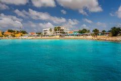 Przyjeżdżający przy Kralendijk, Bonaire Fotografia Royalty Free