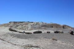 Przyjeżdżający przy Zabriskie punktem, Kalifornia obraz stock