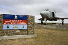Przyjemna góry Baza powietrzna - Falkland Wyspy Obrazy Royalty Free
