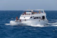 Przyjemność jacht w Czerwonym morzu Zdjęcia Royalty Free
