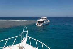 Przyjemność jacht w Czerwonym morzu Obrazy Royalty Free