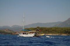 Przyjemność turecki jacht zdjęcia stock