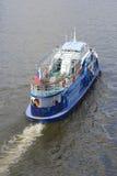 Przyjemności łódź na Moskwa rzece Obrazy Stock