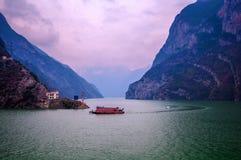 Przyjemności łódź w Trzy wąwozie Zdjęcia Royalty Free